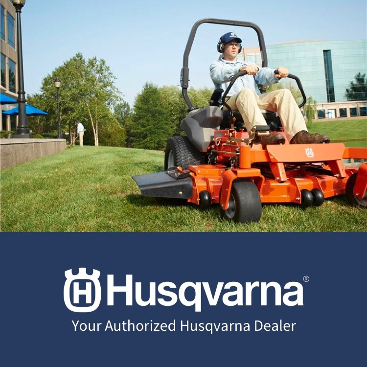 Husqvarna Lawn Mower with logo - Your Authorized Husqvarna Dealer