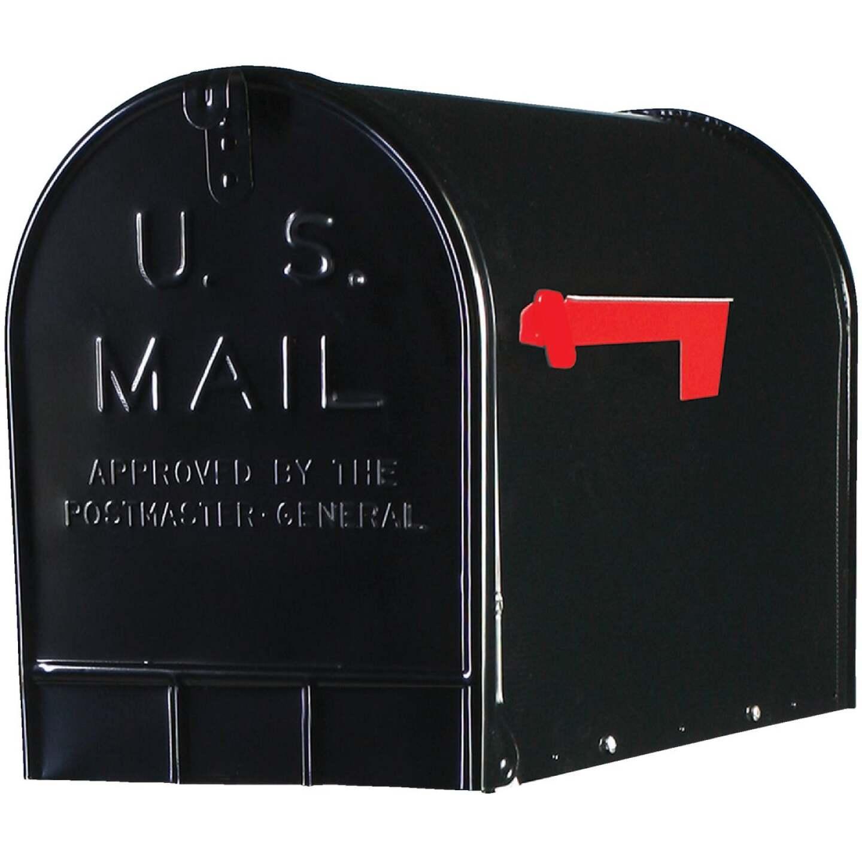 Gibraltar Stanley T3 Black Steel Rural Post Mount Mailbox Image 1