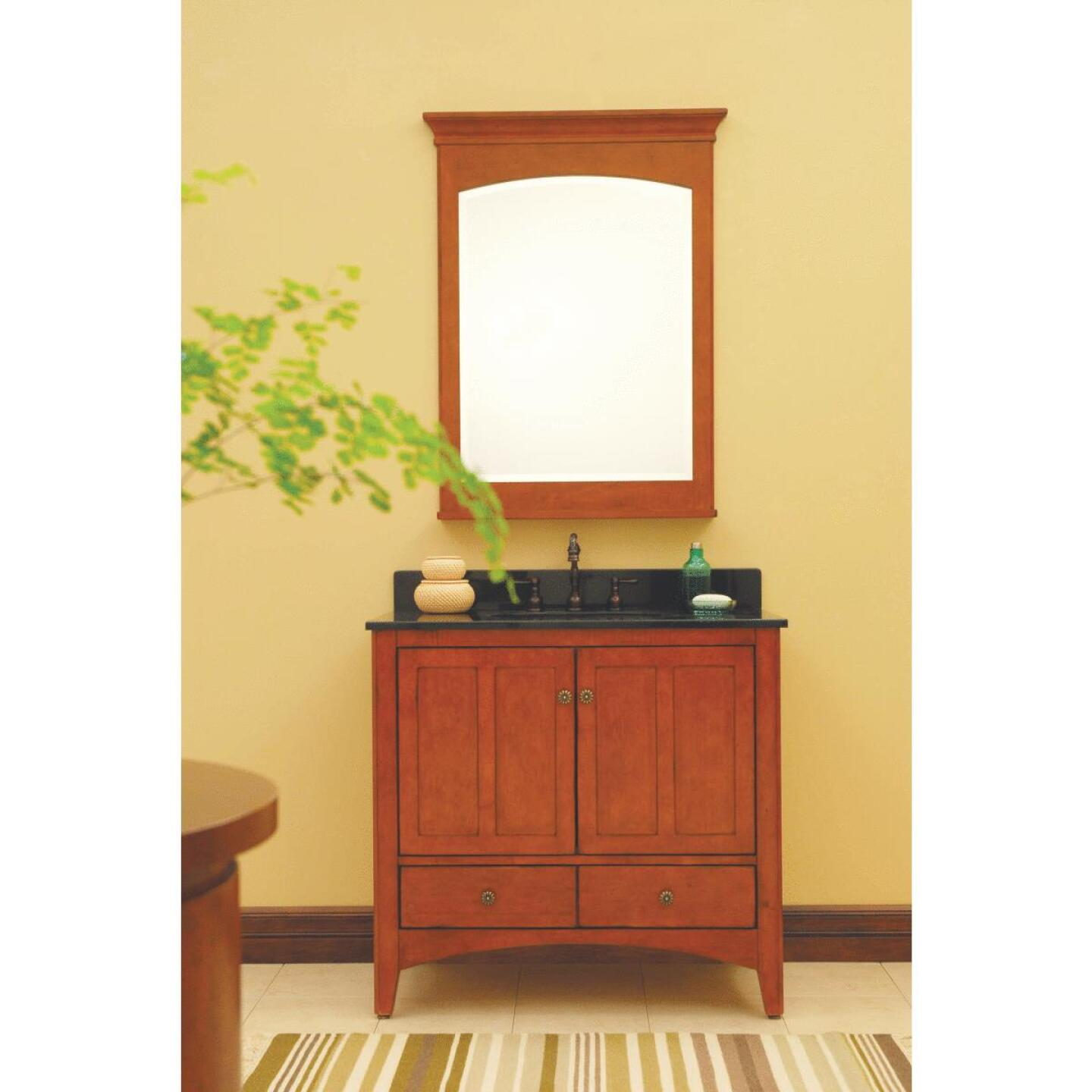 Sunny Wood Expressions Cinnamon 27 In. W x 32 In. H x 6-1/2 In. D Single Mirror Surface Mount Medicine Cabinet Image 2