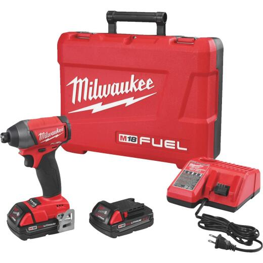 Milwaukee M18 FUEL 18 Volt Lithium-Ion Brushless 1/4 In. Hex Cordless Impact Driver Kit