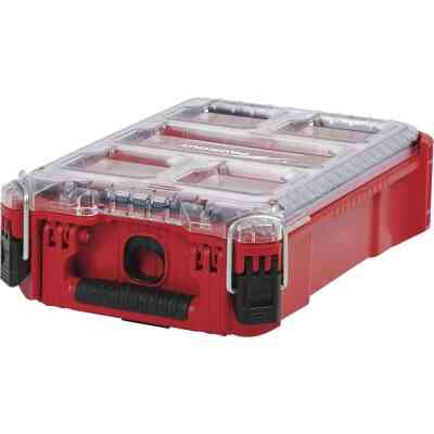 Milwaukee PACKOUT 9.75 In. W x 4.50 In. H x 15.25 In. L Compact Small Parts Organizer with 5 Bins