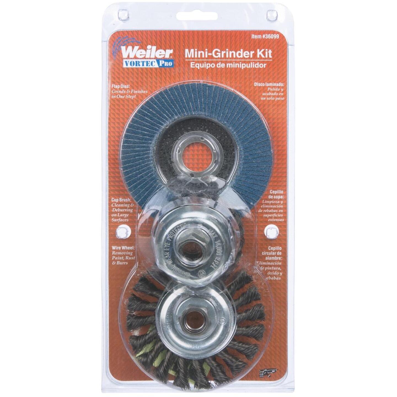 Weiler Vortec 3-Piece Angle Grinder Abrasive Set Image 2