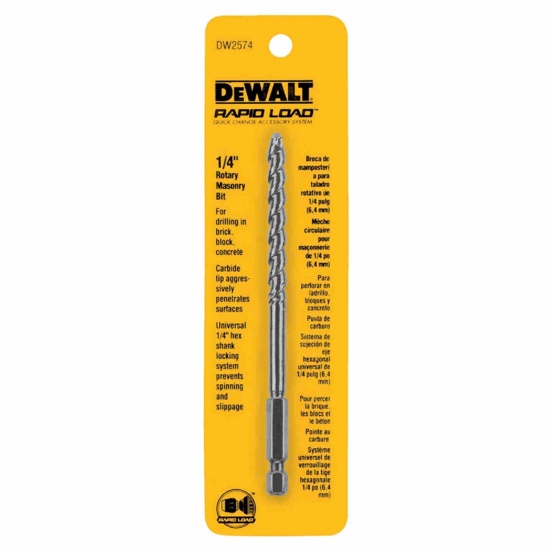 DeWalt 1/4 In. x 7 In. Rotary Masonry Drill Bit Image 2