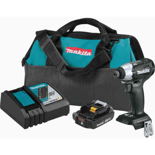 Makita 18 Volt LXT Lithium-Ion Brushless 1/4 In. Hex Sub-Compact Cordless Impact Driver Kit