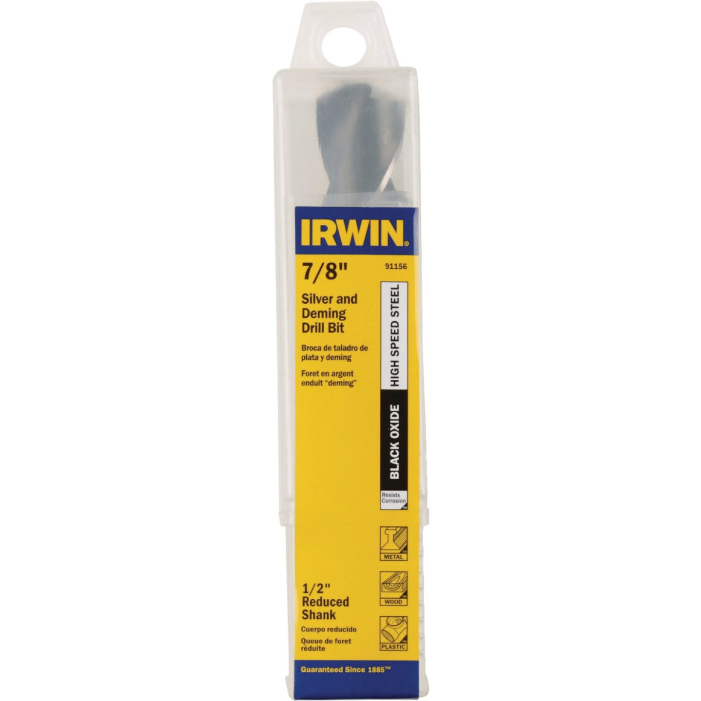 Irwin 7/8 In. Black Oxide Silver & Deming Drill Bit Image 1