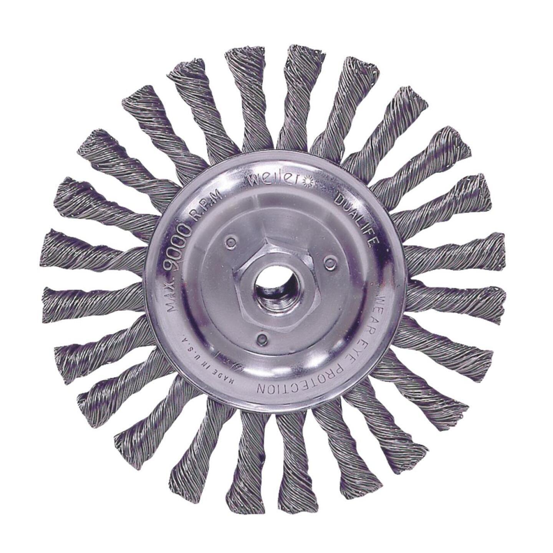 Weiler Vortec 6 In. Stringer Bead 0.025 In. Angle Grinder Wire Wheel Image 1