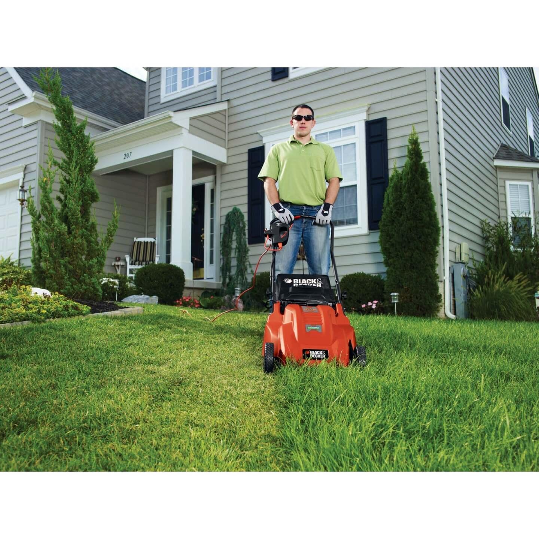 Black & Decker 20 In. 13A Push Electric Lawn Mower Image 7