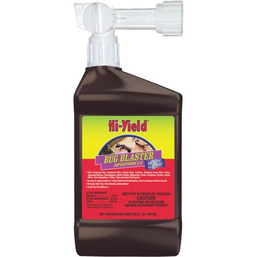 Hi-Yield Bug Blaster 32 Oz. Ready To Spray Hose End Insect Killer