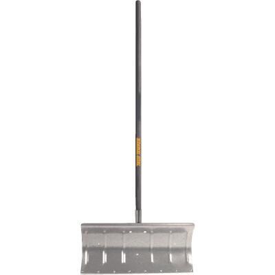 True Temper 24 In. Aluminum Snow Pusher with 48 In. Wood Handle