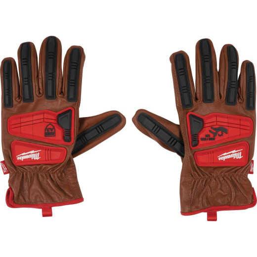 Milwaukee Impact Cut Level 3 Unisex Large Goatskin Leather Work Gloves
