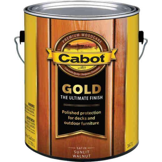 Cabot Gold Exterior Stain, Sunlit Walnut, 1 Gal.