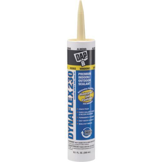 DAP DYNAFLEX 230 10.1 Oz. 100% Waterproof Window, Door, Siding & Trim Elastomeric Sealant, Almond