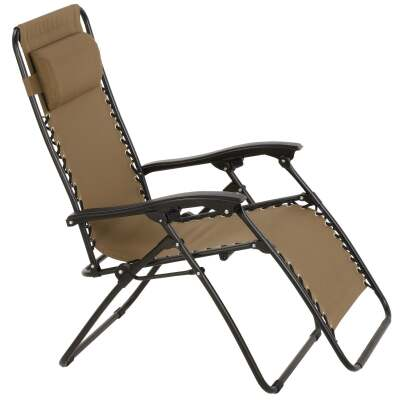 Outdoor Expressions Zero Gravity Relaxer Tan Convertible Lounge Chair
