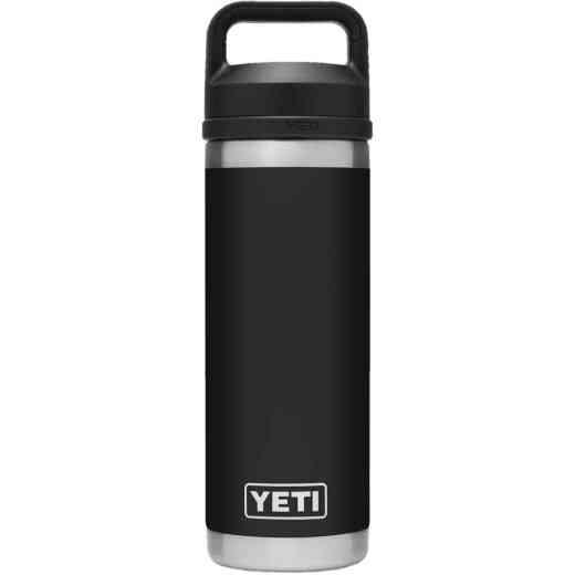 Yeti Rambler 18 Oz. Black Stainless Steel Insulated Vacuum Bottle with Chug Cap