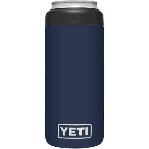 Yeti Rambler Colster Slim 12 Oz. Navy Stainless Steel Insulated Drink Holder with Load-And-Lock Gasket