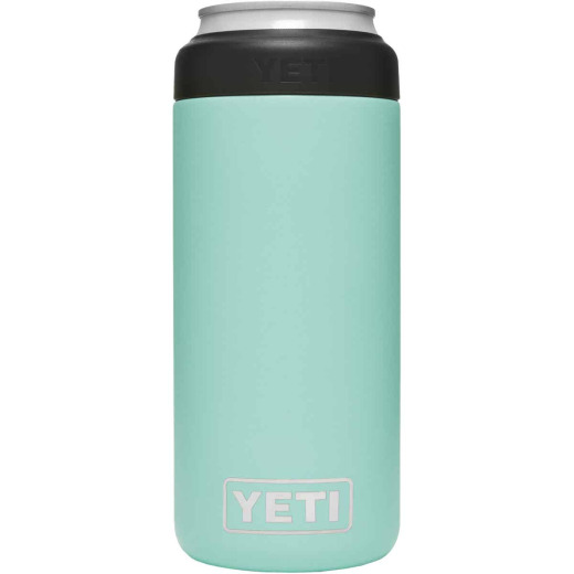 Yeti Rambler Colster Slim 12 Oz. Seafoam Stainless Steel Insulated Drink Holder with Load-And-Lock Gasket