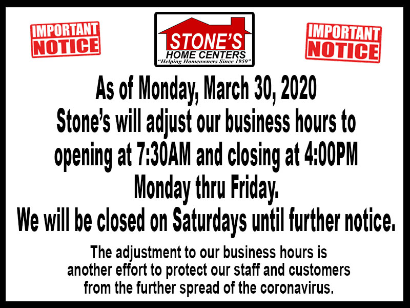 Notice to our Customers.